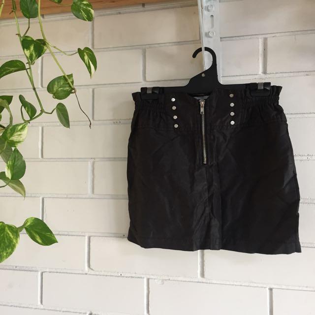 Mink Pink Black Skirt Size 10