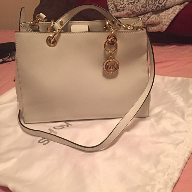MK Handbag White.  Used Once Only
