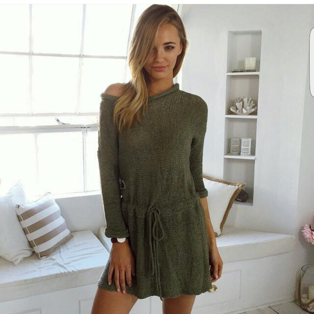MURA BOUTIQUE Khaki Dress S/M