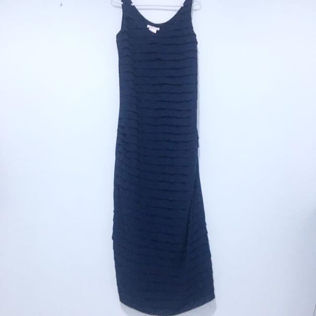 Navy Blue Rempel Long Dress