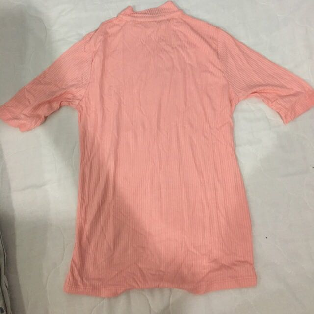 Salmon Pink Turle Neck Top