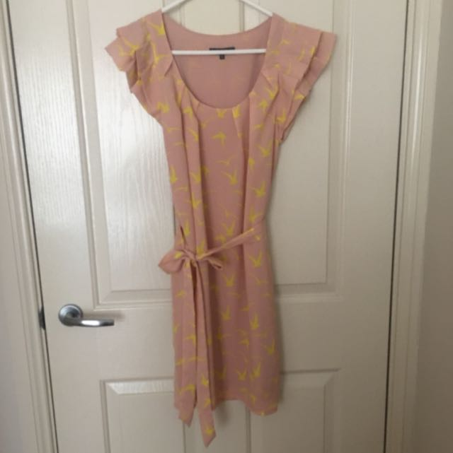 Sheike Ladies Pink And Yellow Dress Size 8