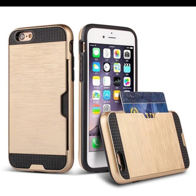 Shock Proof TPU Hybrid Armor Case For Apple iPhone 7 7plus Plus Case Holder Card