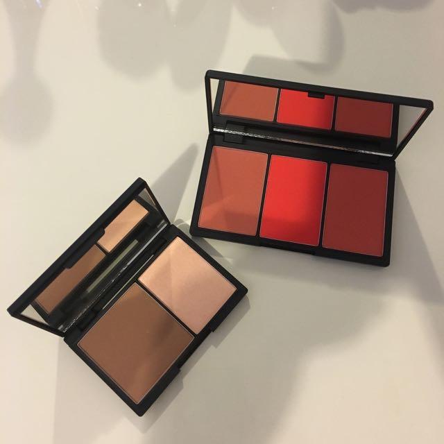 Sleek Make Up Blush By 3 Palette(flame365)&face contour Kit(light) Bundle