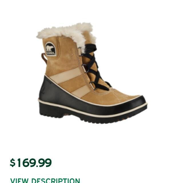 sorel Authentic Winter Boots Size 8