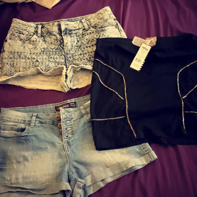 Top Shorts Size 10, Skirt Size 14 Brand New With Tags Rrp $24.99, Bottom Shorts Jay Jay's 12 $10 Each