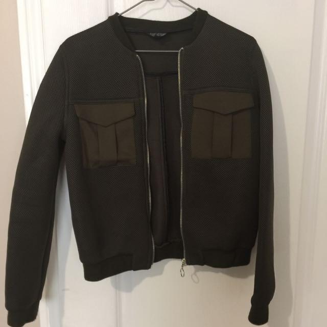 Topshop Olive Jacket