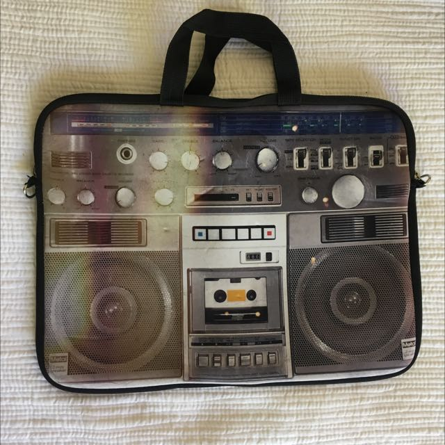 Typo Stereo Pattern Laptop Bag