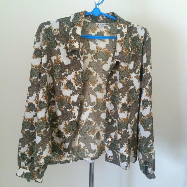 Vintage Paisley Print Jacket
