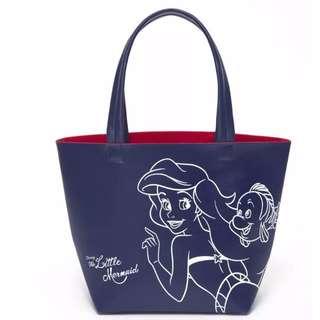 🚚 ◆Belle Shop◆日本 迪士尼 DISNEY 小美人魚 公主 愛麗兒 托特包 購物袋 環保包 午餐袋 便當袋