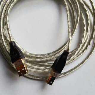 "9'8"" USB 2.0 Device Cable 24K Gold Plated"