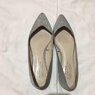 Zara glitter silver shoes