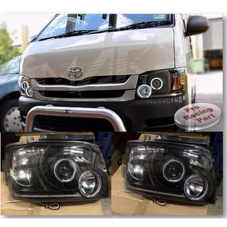 TOYOTA Hiace VAN KDH-200 Headlight JDM Dark Black
