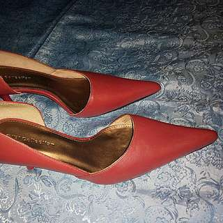 #1212  Red Pointed TOE Heels