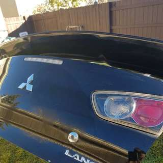 Selling 2011 Mitsubishi Lancer lid with spoiler, tail lights and wiring... Asking 550