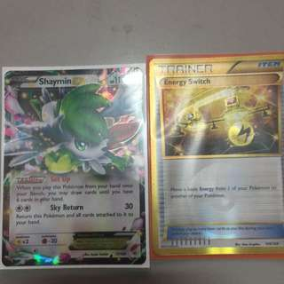 Shaymin Ex Normal Art And E-switch Pokemon TCG