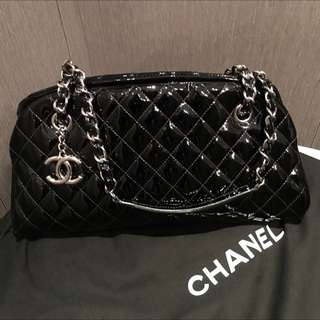 Chanel Patent Black Bowler Mademoiselle Bag