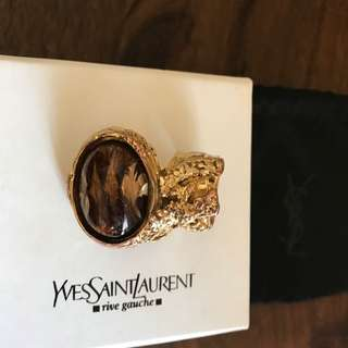 Yves Saint Laurent Arty Gold Plated Glass Ring