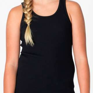 American Apparel Rib Tank in Black