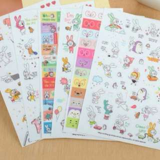 6 Sheets/set Book Sticker For Diary Scrapbook Calendar Notebook Label