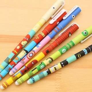Various Designs Super Hero Gel Ink Pen