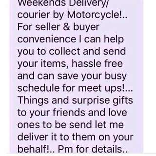 Motorcycle Delivery/courier