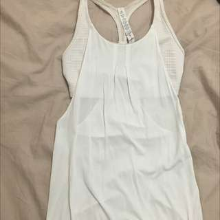 White Hot Yoga Top Size 4