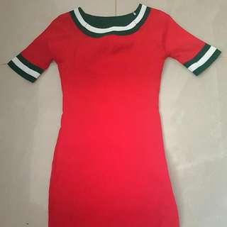 Replica BLV Knit Sabrina Red Dress