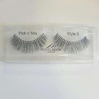 10 X MODEL ROCK style 3 Eyelashes