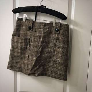 Tweed Pattern Mini Skirt