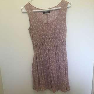 Cream Patterned Jay Jays Dress Size 6