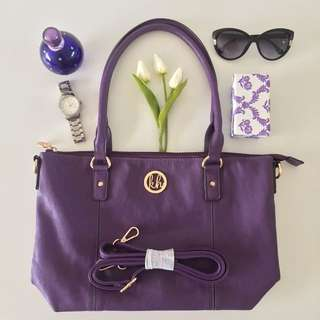 Kate Hill Tote in Purple