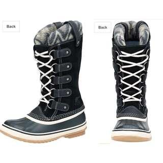 Sorel加拿大獵鴨靴雪靴。防水保暖防滑中筒靴。黑US7.5