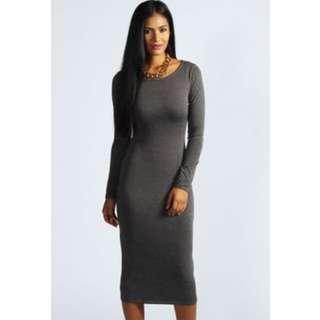Dark Grey Midi Dress