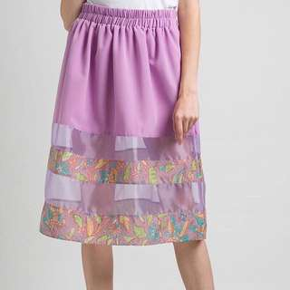 Long Organza Batik skirt