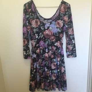 Sportsgirl Floral Skater Dress Size Xs