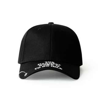 The Hardest Work Is To Go Idle Black Curve Brim Ring Cap Hat Caps Hats with Adjustable Strapback