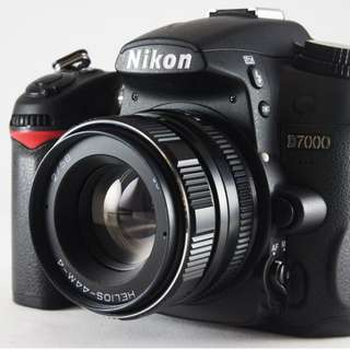 **日光銀鹽** 蘇聯 俄鏡 八羽怪 HELIOS 44M-4 58mm F2 For Nikon (only lens) 全片幅機身可用