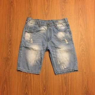 🚚 刷白牛仔短褲