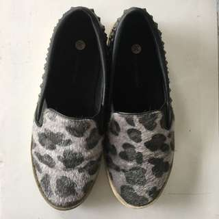 Slip On - Animal Print With Studs S36