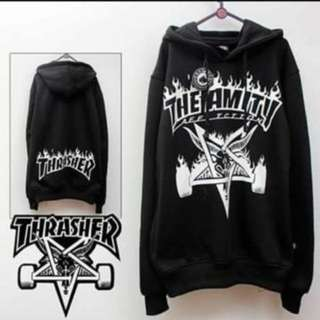 Jaket Sweater Hoodie Thrasher The Amity Navy & Hitam