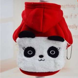 RED PANDA Costume for Small Breed dogs like Shih Tzu