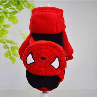 SPIDER-MAN Costume for Small Breed dogs like Shih Tzu