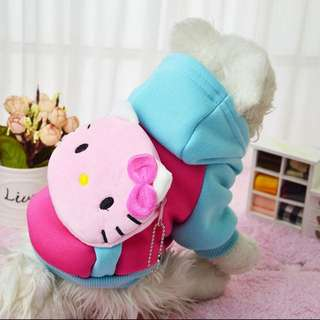 HELLO KITTY Costume for Small Breed dogs like Shih Tzu