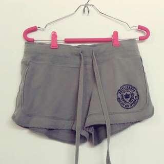 roots專櫃品牌悠閒休閒綁帶運動短褲