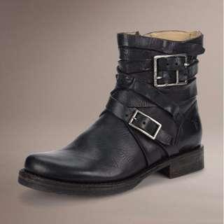 Frye 繞帶黑靴 Size 6.5