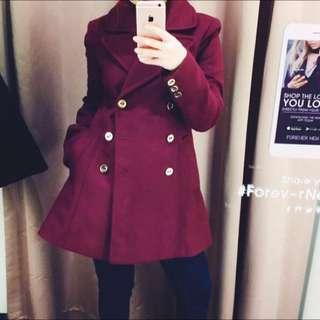 Forever New Winter Coat ( Maroon )