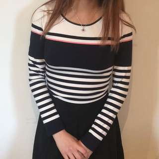 Oasis Striped Top Size XS