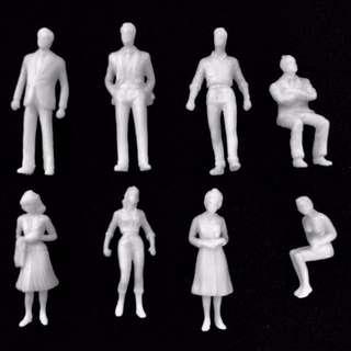 Scaled Human figures - 1:25, 1:50, 1:75, 1:100, 1:150 1:200, 1:300
