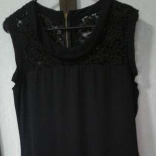Plains & Prints Black Lace Dress